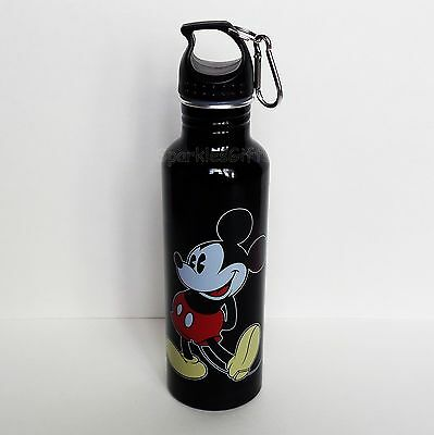 Disney - Mickey Mouse - Original Mickey Aluminum Water Bottle - Backpack Clip