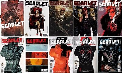 SCARLET 1 2 3 4 5 6 7 8 9 10 1st 2nd Print COMICS TV Show Cinemax HBO Maleev Art