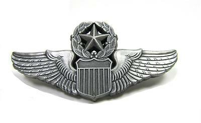 United States Air Force Master Pilot Lapel Pin USAF Pewter 2""