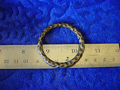 1 1/2 in cast antique brass hammer ring leather craft