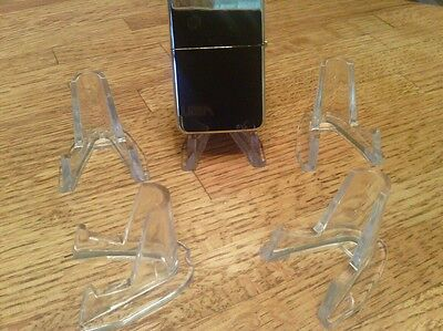 SET Of 5 High Quality Clear Acrylic Display Stands, New
