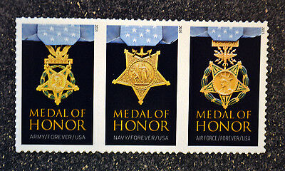 2015USA #4822-4823b  4988 Medal Honor Vietnam War Navy Army Air Force Strip of 3