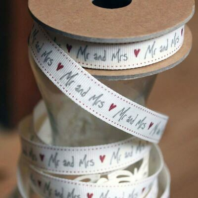 East of India Ribbon Mr & Mrs 3m - Wedding Favours / Craft / Gift Wrap