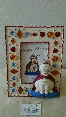 White Royalty Cat Picture Frame
