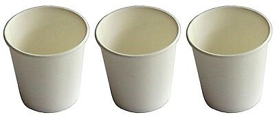 1000 Cups 4oz White Single Wall Paper Coffee Cup Pieces 118ml Disposable New