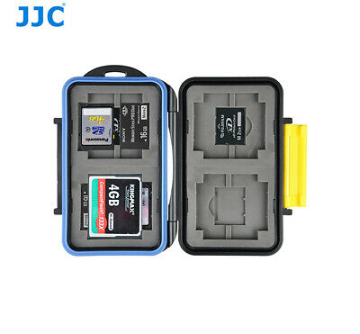 JJC Water-resistant  HolderStorage Memory Card Case For 4CF 4SD 4XD 4MS Pro Duo