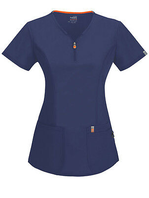 Code Happy 'V-Neck Top w/ Certainty Antimicrobial' Scrub Top