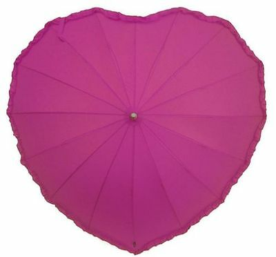 Frilly Heart Shape Umbrellas *CHOOSE YOUR COLOUR*