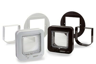 Keep Out Strays with Sureflap Microchip Cat Flap Accessories in Brown or White