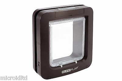 Sureflap Pet Door for Big Cats & Small Dogs available in Brown or White