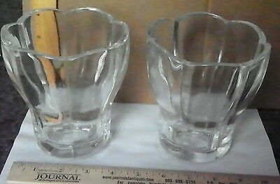Pair Of Quality Clear Shades (Possibly Lead Crystal)  (3017)