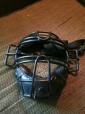 Wilson A3055 umpire mask. Steel cage. Good used mask.