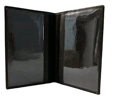 Genuine Leather Passport Cover for Classic Travel Black