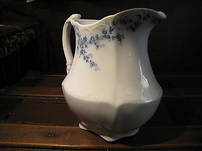 early 1900's Antique GORGEOUS, Semi Porcelain Pitcher. Victorian. Large. ENGLAND