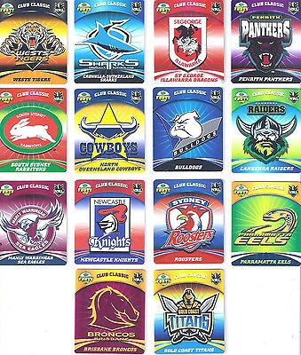 2007 NRL LOGO TAZO'S: ALL IN MINT CONDITION FREE Postage