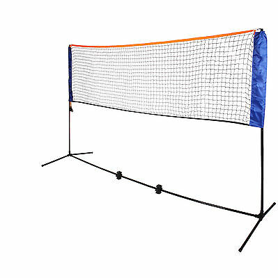 NEW Small 3m Adjustable Mini Foldable Badminton Tennis Volleyball Net