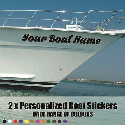 "2 x SSR /  Boat Name Stickers Decal Graphics. Hi Quality 24""x6""  600x150mm Vinyl"