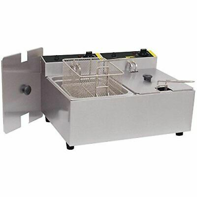 Buffalo Double Fryer with 2 Independent 5L Tanks Made of Stainless Steel 2x2.8Kw