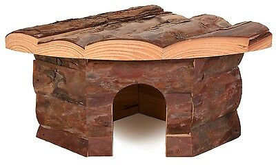 Natural Wooden Corner Hut for Reptiles Gecko Cave & Small Animals Hamster Gerbil