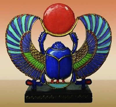 "NEW! 2 1/4"" Scarab Beetle Egyptian Egypt Gift Figurine Collectible Statue 1296"