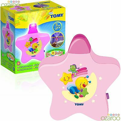 TOMY First Years Starlight Dreamshow - Baby Cot Nightlight with Lullabies - Pink