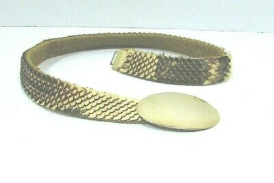 Mod Vintage Stretchy Gold Mesh Belt C. 60's-70's