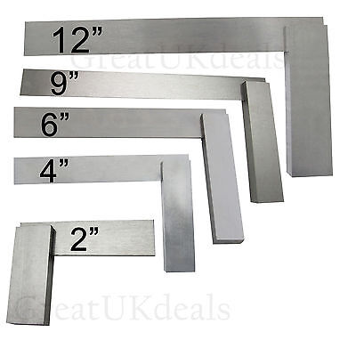 Engineers Set Square Measuring Tool Diy Tri Try Square Solid Steel Precision