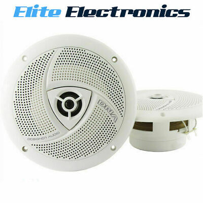 """Dna Ms652 6.5"""" White 2-Way 120W Marine Boat Outdoor Stereo Speakers Pair 6-1/2"""""""