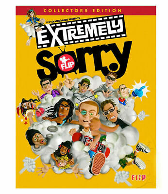 FLIP SKATEBOARDS Extremely Sorry DVD SKATE DICE STICKERS AUST SELLER FREE POST