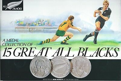 New Zealand All Blacks Medal Collection of 15 Great All Blacks