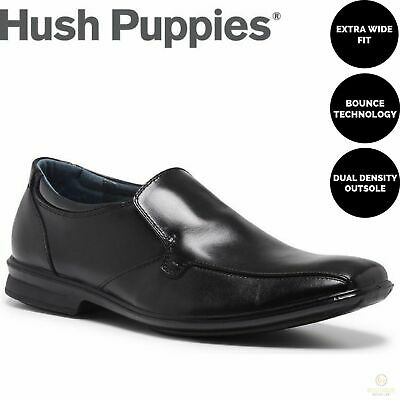 HUSH PUPPIES CAHILL Leather Slip On Business Shoes Casual Work Loafers Comfort
