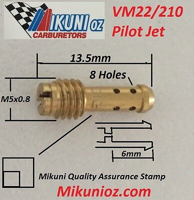 Mikuni Carb VM22/210 Pilot Jet- for Mikuni VM or TM Carburetors