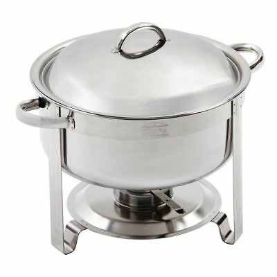 Olympia Chafing Set Food Warmer in Silver - 7.5L - Packed 420(H)x340(W)x330(D)mm