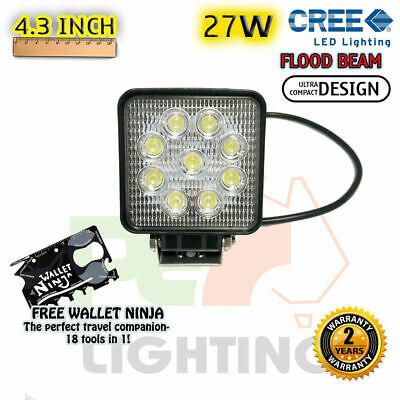 PEC 27W CREE USA LED FLOOD WORK LIGHT + MOUNTING For  MINI COUNTRYMAN