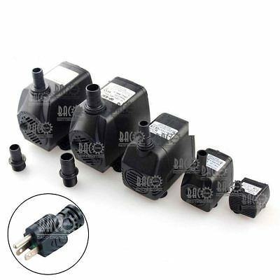 BACOENG Aquarium Hydroponic Pond US Plug Small Submersible Fountain Water Pump