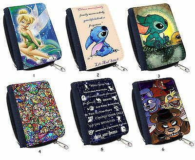 """Lilo And Stitch Quote """"Ohana Means Family"""" For Cute Canvas Wallet Purse"""