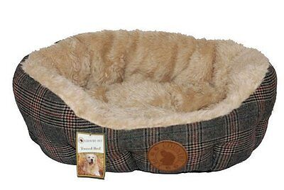 Country Pet Luxury Tweed Dog Bed - Various Sizes - Handcrafted from Finest Tweed