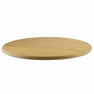 Werzalit Pre-drilled Round Table Top Oak Effect 800mm Indoors Outdoors