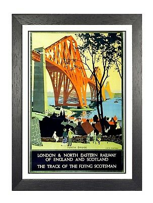 Track of the Flying Scotsman Classic 1920s Railway Travel Poster 20x30