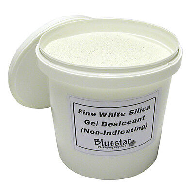 Fine Pure White Silica Gel Desiccant Granules in Sealed Tubs for Flower Drying