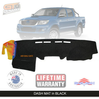 BLACK DASH MAT to Suit TOYOTA Hilux 150 Series SR5 SR KUN16 2/2005-6/2015 DM978
