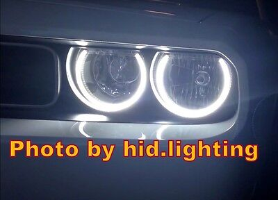 Dodge Challenger Angel Eye Halo Light LED SMD HID Projector Headlight White