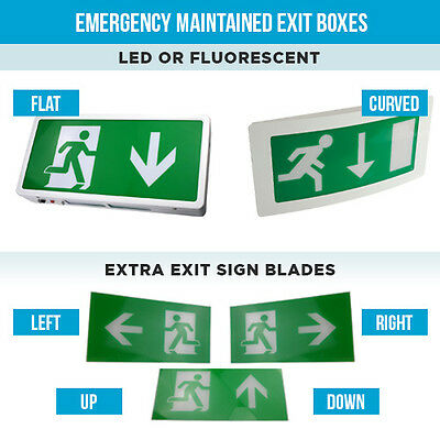 Maintained Or Non Maintained Emergency Exit Box Lights Over Door Fire Exit Light