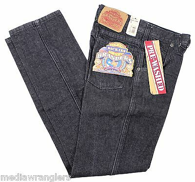 NEW VTG 90s DICKIES Boys Branders JEANS Dark Gray 12 Zip Fly Deadstock NWT NOS