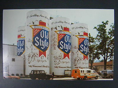 G Heileman Brewing WI Old Style Beer Largest Six Pack Advertsing Postcard c1970s