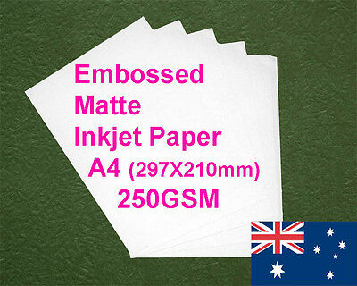 30 sheets A4 250GSM Inkjet Embossed Matte Photo Paper