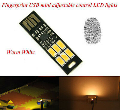 MINI Touch Switch USB mobile power camping lamp LED night light Warm lamp V