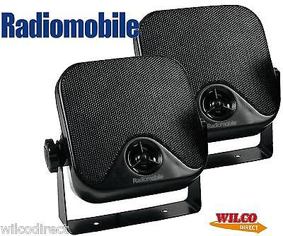 Radiomobile Universal 60W 2-Way Radio/stereo Pod Speakers Car/van/boat/caravan