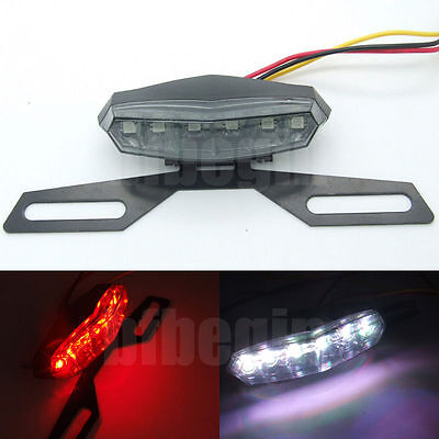 UNIVERSAL MOTORCYCLE 6 LED Red REAR TAIL BRAKE STOP License NUMBER PLATE LIGHT