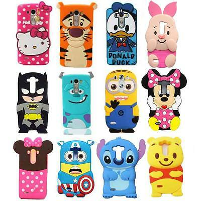 3D Cute Cartoon Soft Silicone Back Design Rubber Case Cover For LG G3 G3 mini G5